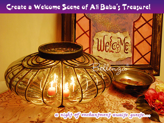 Welcome guest book table for Arabian Nights Wedding
