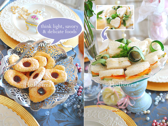 Victorian tea party food