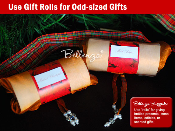 Tartan ribbons for holiday gifts