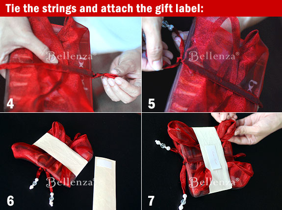 Wrapping directions for holiday gifts