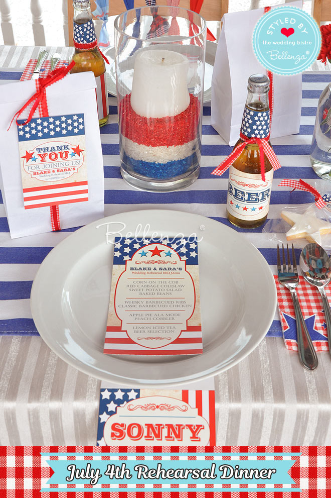 July4th Place Settings with Place Cards