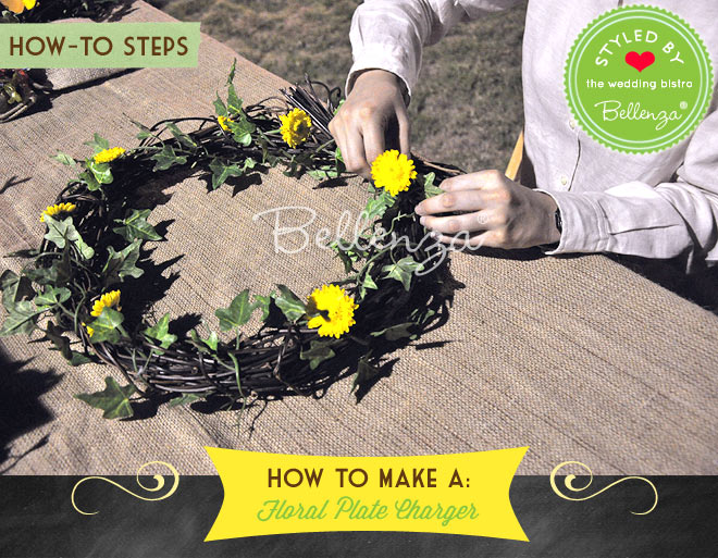 Attach the flowers to the wreath. Spread and space evenly around the wreath.