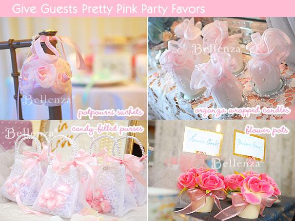 Pink themed favor ideas