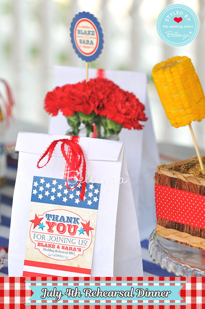 July 4th-inspired Favor Bags & Fillings
