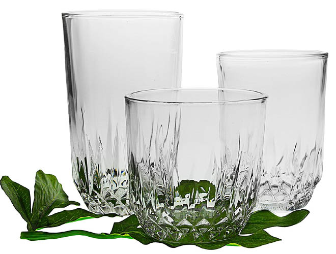 10 - 18-piece Drinking Glasses Set