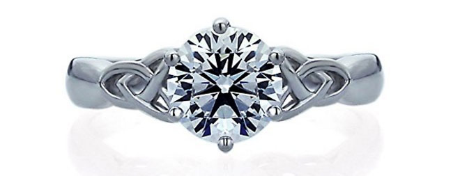 14K White Gold 1.25 Carat through Amazon