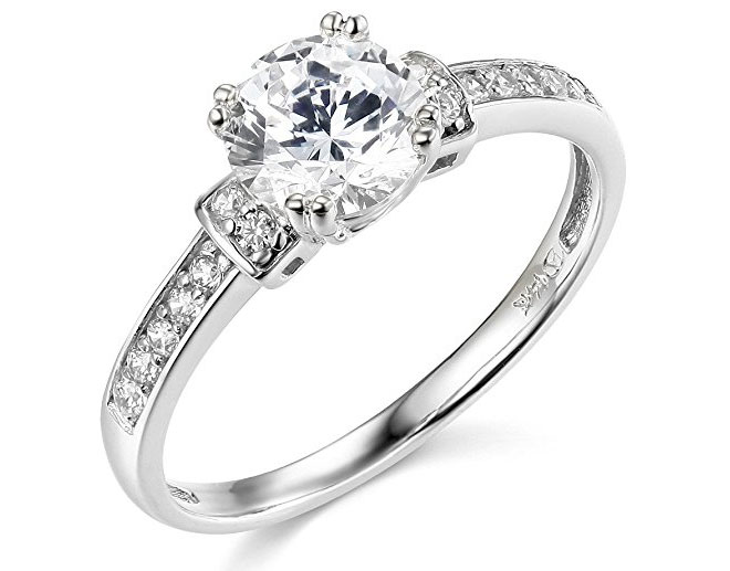 14k White Gold Cubic Zirconia