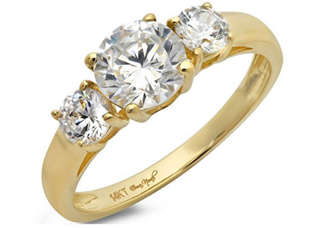 Gold promise ring via Amazon