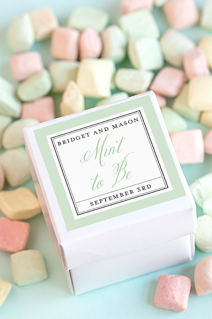 Creative Wedding Favor Tags with Sweet Sayings