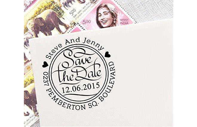 Custom Rubber Personalized Invitation Stamper - via Amazon