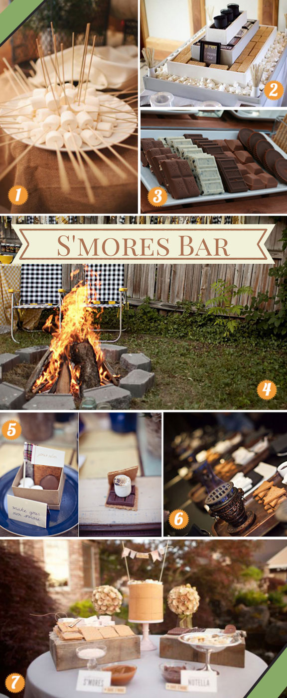 Easy Ways to Set Up a S'mores Bar for a Wedding
