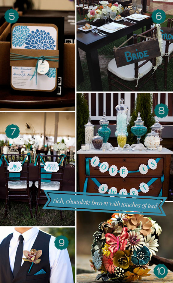 Hey Gorgeous! A Teal and Brown Palette for a Fall Wedding! - Unique ...