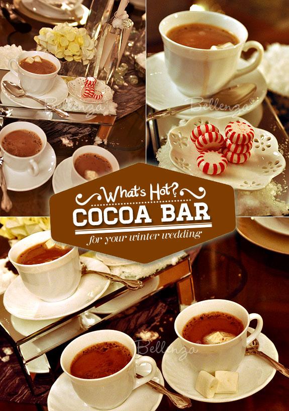 Hot Cocoa Bar for a Winter Wedding