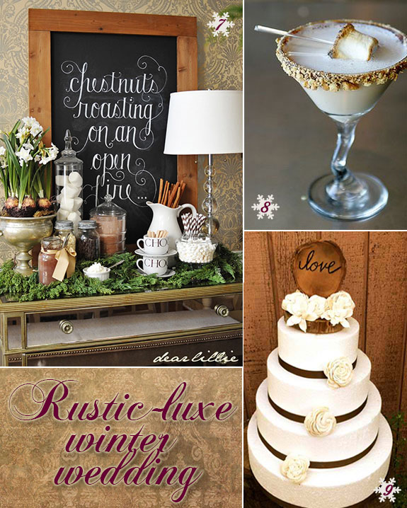 Rustic Luxe Winter Wedding Inspiration! Let it Snow! - Unique ...