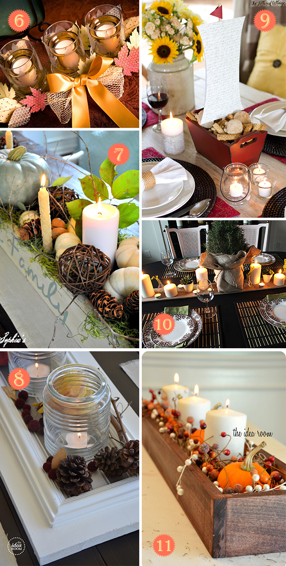 Thanksgiving candle centerpieces