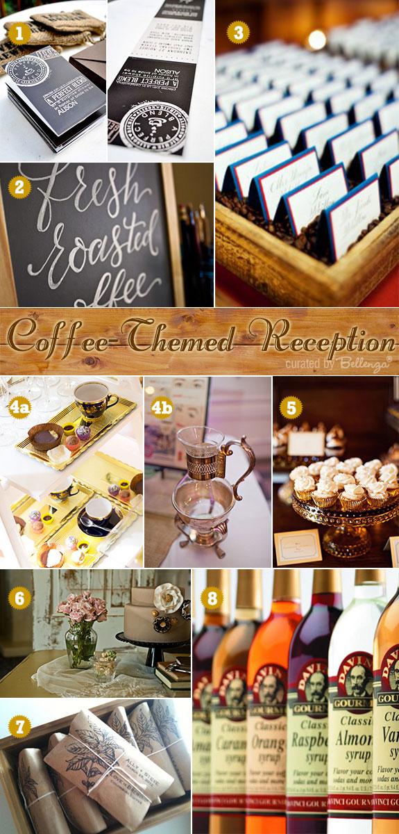 Coffee Themed Wedding Ideas For A Vintage Inspired Reception