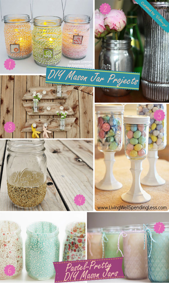Simple diy mason jar projects for weddings unique wedding ideas great ideas for diy mason jar wedding decorations junglespirit Images