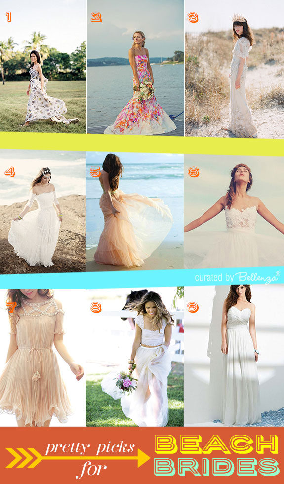 Stylish beach wedding dresses summer