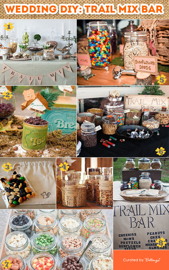 DIY Trail Mix Bar and Buffet for a Wedding