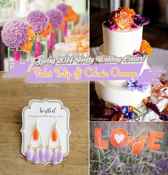 Lilac and orange weddings