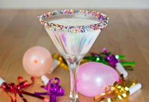 Rainbow Sprinkles Martini