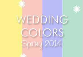Elegant spring 2014 wedding colors
