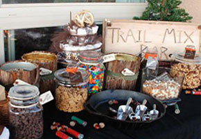 Elements for a trail mix table