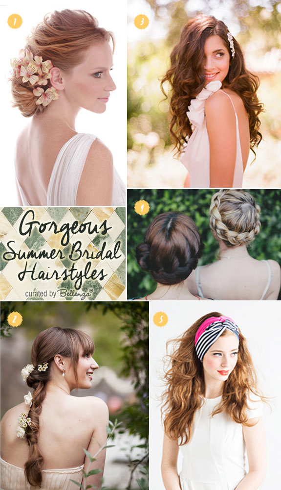 Bridal hairstyles for summer weddings