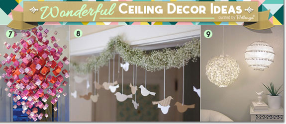 Chandeliers Made With Paper And Poms For Wedding Ceiling Decorations