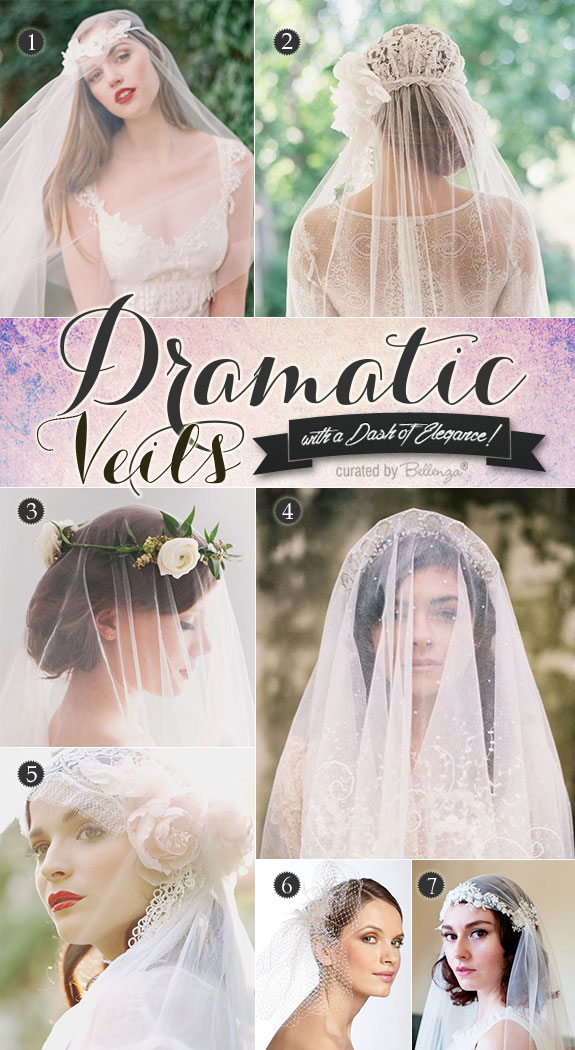 Types of veils for brides