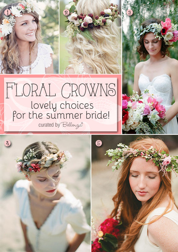 Floral crown ideas for summer brides