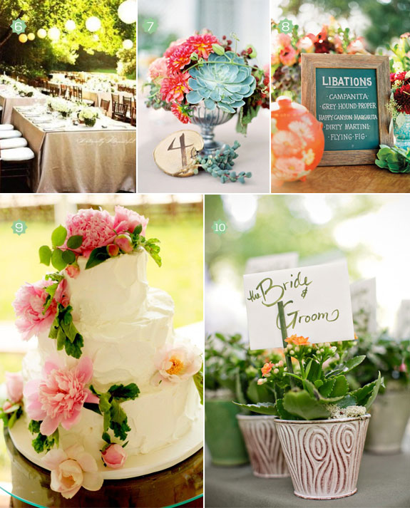 The allure of a classic garden wedding diy ideas to inspire you garden wedding decorations from table settings to parasaols to centerpieces junglespirit Images