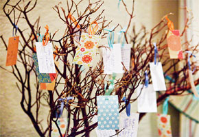 Creative Decor Ideas for Presenting Wedding Wish Trees!