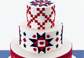 Patriotic Cake by Confetti Cakes by Elissa Strauss via Brides.com