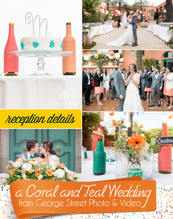 A Coral and Teal Wedding from George Street Photo and Video - Unique ...
