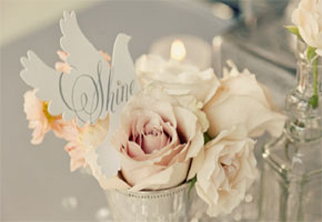 Winter florals with love birds. Photo from Something Pretty