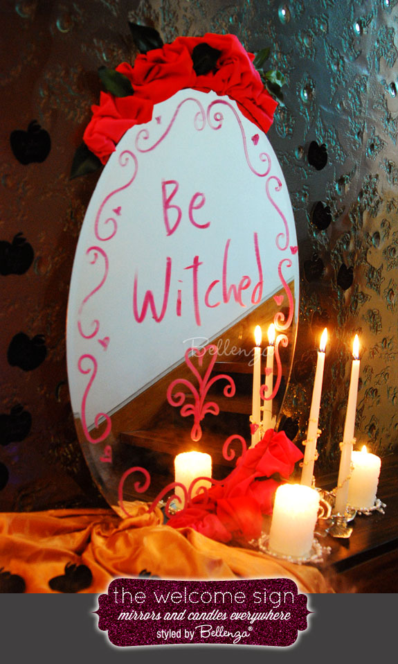 Eclectic Halloween welcome display wreath made of apple shaped cookies by Bellenza