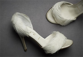 Feathers shoes in white