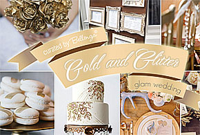 Go for Gold and Glitter in a Glamorous Winter Wedding