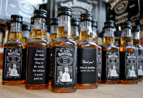 Jack Daniels bottled favors