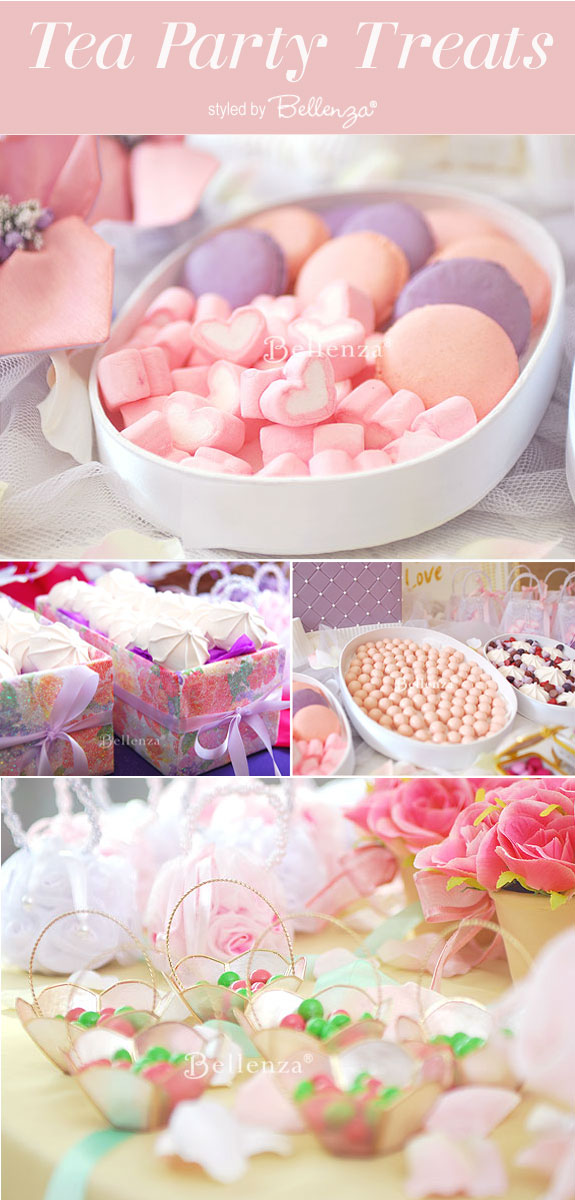 Afternoon tea party menu ideas from meringues to macarons in pink and lilac