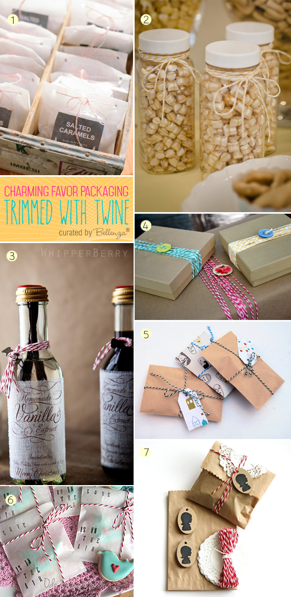 How to Use Twine for Making Pretty Favor Packaging
