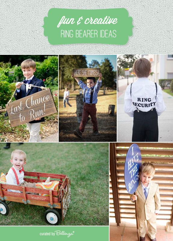 Ring Bearer Ideas that are Fun and Creatively Cool! Bellenza Wedding Bistro