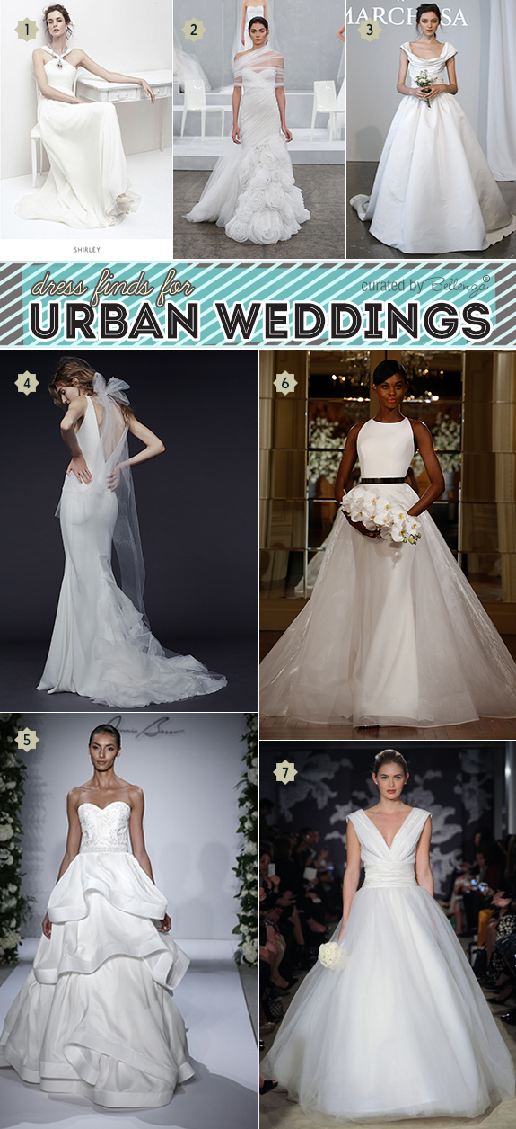 Modern Wedding Gowns For An Urban Industrial Style Wedding Unique