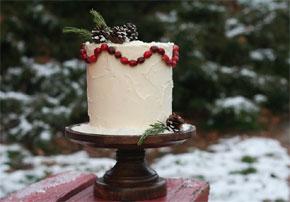 DIY rustic woodland diy cake via Project Wedding
