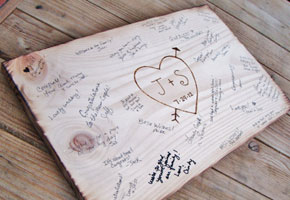 Wooden Guest Book by Bright Beginnings Designs