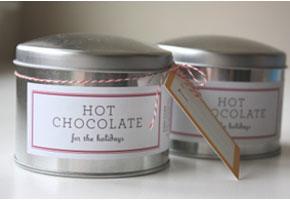 Hot chocolate tins