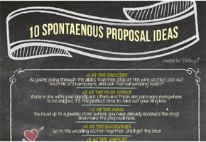 10 Proposal Ideas for Making It Perfectly 'Spontaneous'