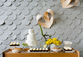 Wedding Dessert Table Backdrops from Vintage to Rustic