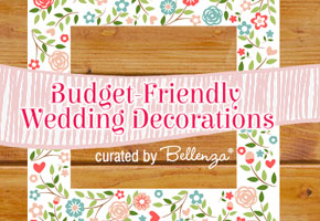 Budget wedding decor